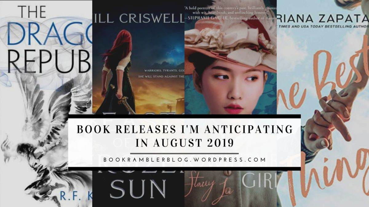 Book Releases I'm Anticipating in August2019